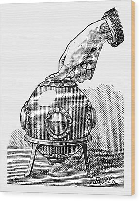 Pascal's Principle Demonstration, 1889 Wood Print by