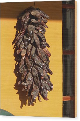 Paso Peppers Wood Print