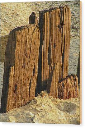 Pass The Sand Please Wood Print by Joe Jake Pratt