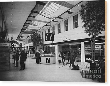 passenger concourse of Glasgow Buchanan street bus station Scotland UK Wood Print by Joe Fox