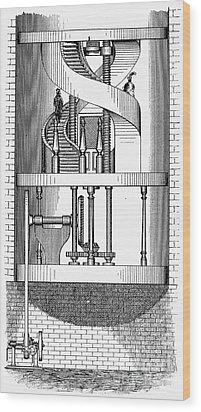 Passenger Elevator, 1876 Wood Print by Granger