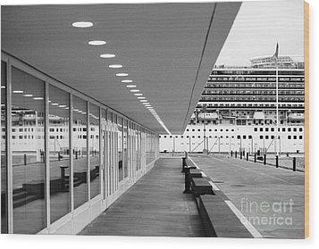 Passenger Terminal Wood Print by Gaspar Avila