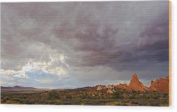 Passing Storm Wood Print by Adam Pender