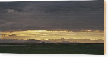 Wood Print featuring the photograph Passing Storm Clouds by Monte Stevens