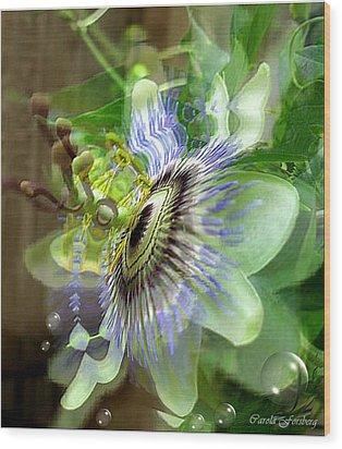 Passion Wood Print by Carola Ann-Margret Forsberg