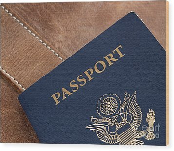 Passport Wood Print by Blink Images