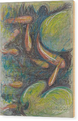 Pastel Fish Wood Print by Michele Hollister - for Nancy Asbell