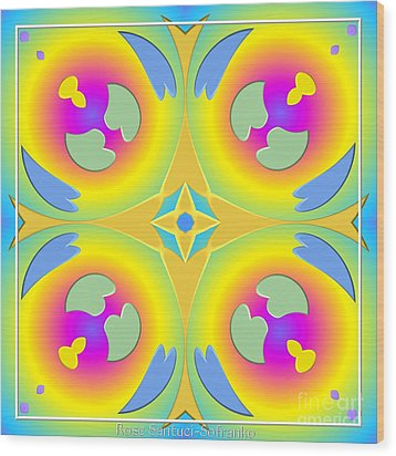 Pastel Hearts Warp 2 Wood Print by Rose Santuci-Sofranko
