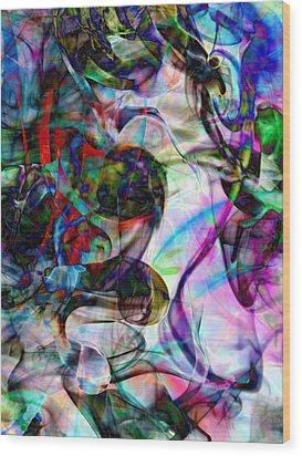 Pastel Smoke Number Two Edit C Wood Print by Nawfal Nur