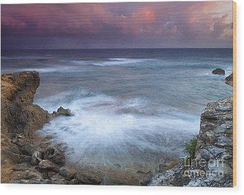Pastel Storm Wood Print by Mike  Dawson