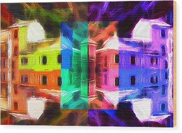 Pastel Windows Wood Print by Steve K