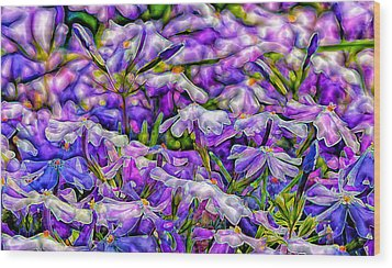Pastelated Florets Wood Print by Bill Tiepelman