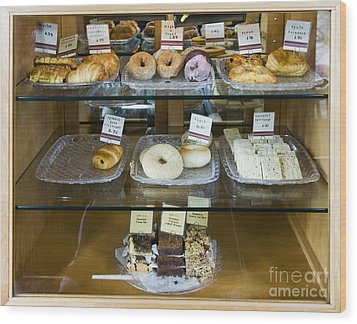 Pastry Items For Sale Wood Print by Andersen Ross