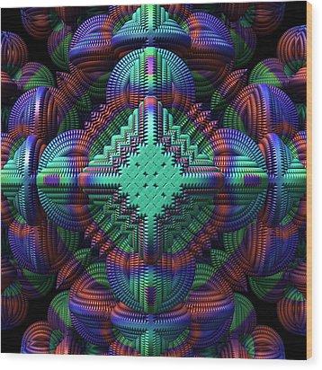 Patchwork Wood Print by Lyle Hatch