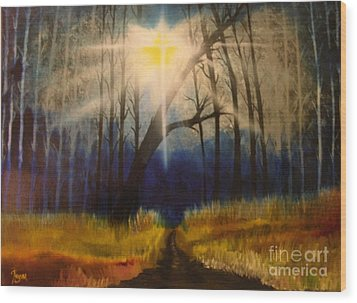 Path Of The Righteous Wood Print by Barbara Hayes