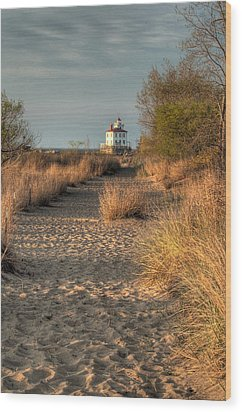 Path To The Light Wood Print by At Lands End Photography