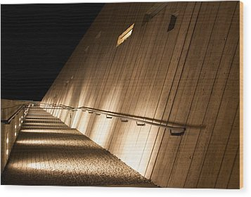 Wood Print featuring the photograph Pathway Of Lights by JM Photography