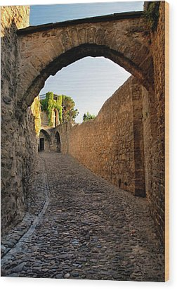 Wood Print featuring the photograph Pathway Through Gordes France by Dave Mills