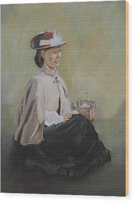 Patiently Waiting Wood Print by Joyce Reid