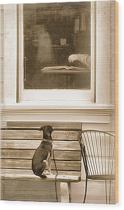 Patiently Waiting Wood Print by Rich Beer