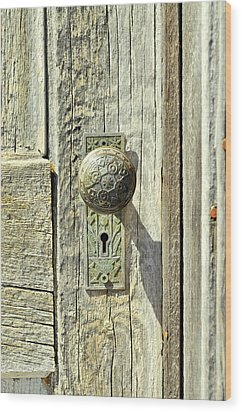 Wood Print featuring the photograph Patina Knob by Fran Riley