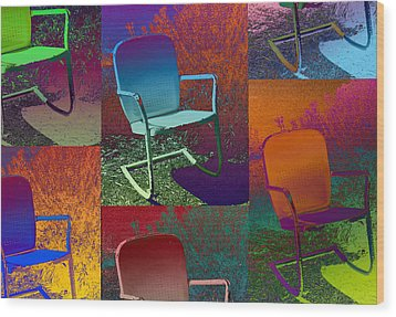 Wood Print featuring the photograph Patio Chair by David Pantuso