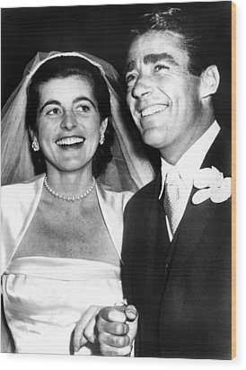 Patricia Kennedy Lawford And Husband Wood Print by Everett