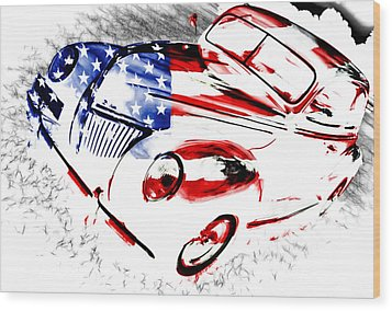 Patriotic 39 Ford Wood Print by Phil 'motography' Clark