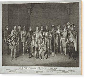 Patriotic Irish-american Print Ca.1875 Wood Print by Everett