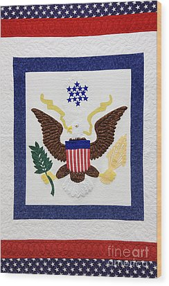 Patriotic Quilt Wood Print by Jeremy Woodhouse