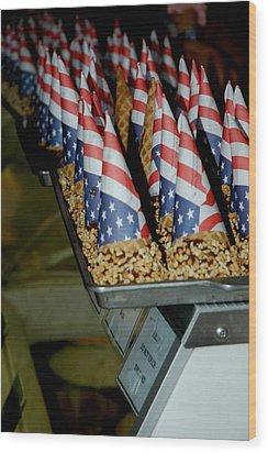 Patriotic Treats Virginia City Nevada Wood Print by LeeAnn McLaneGoetz McLaneGoetzStudioLLCcom