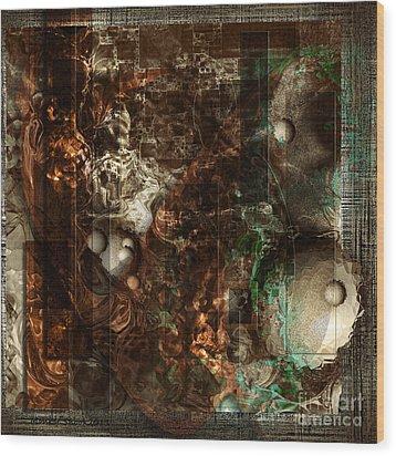 Pattern Down - Brown Wood Print by Monroe Snook