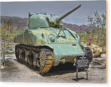 Wood Print featuring the photograph Patton M4 Sherman by Jason Abando