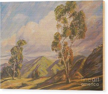 Paul Grimm California Impressionism Wood Print by Sunanda Chatterjee