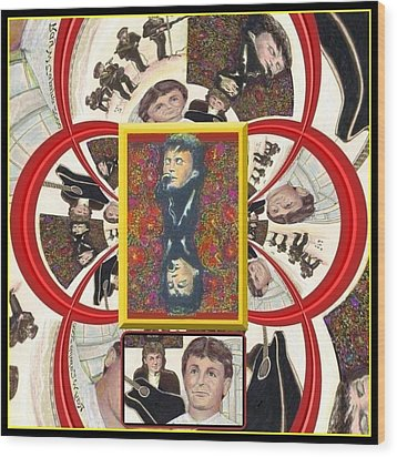 Wood Print featuring the mixed media Paul Mccartney Beatles  by Ray Tapajna