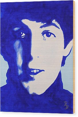 Paul Mccartney - The Beatles Wood Print by Bob Baker