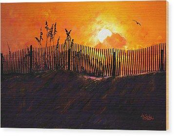 Pawleys Island Sunrise Wood Print