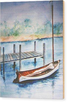 Pea Pod Boat Wood Print