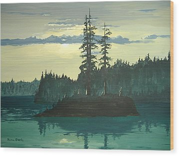 Peace And Quiet Wood Print by Norm Starks
