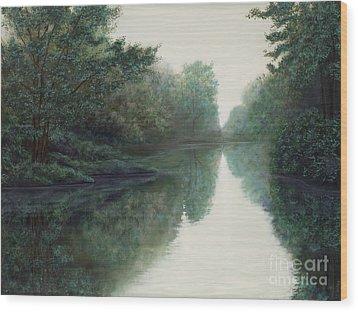 Peace Just Like A River Wood Print