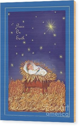 Peace On Earth Wood Print by Dessie Durham