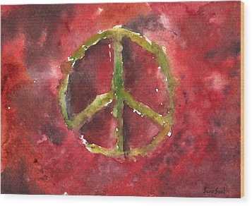 Peace Sign 61-12 Wood Print by Sean Seal