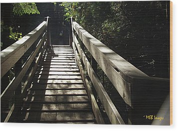 Peaceful Bridge Wood Print