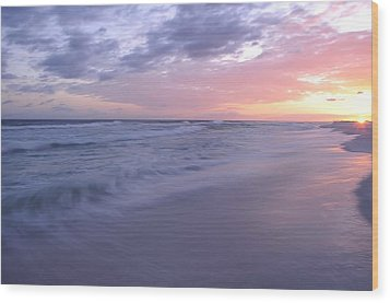 Wood Print featuring the photograph Peaceful Evening by Renee Hardison