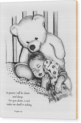 Peaceful Sleep Wood Print by Joyce Geleynse