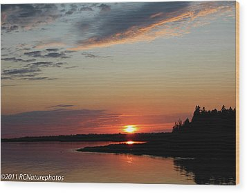 Wood Print featuring the photograph Peaceful Sunset by Rachel Cohen