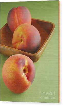 Peaches Wood Print by HD Connelly