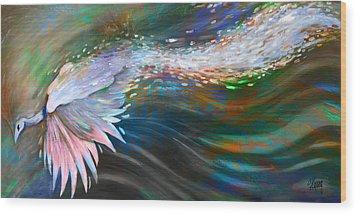Peacock 1 Wood Print