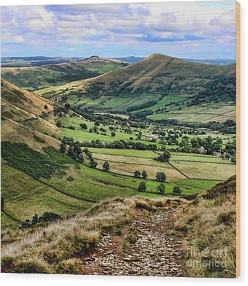 Peak District Wood Print by Isabella F Abbie Shores