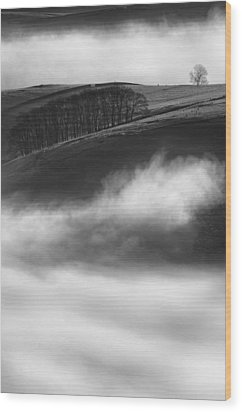 Peak District Landscape Wood Print by Andy Astbury